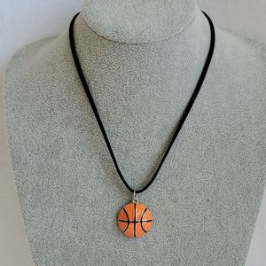 Men's basketball charm necklace